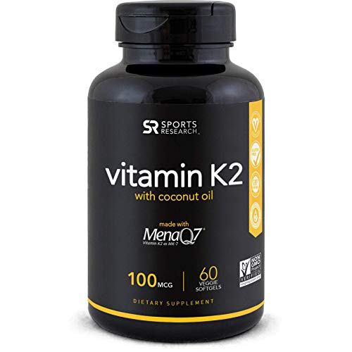 - Vitamin K2 (as MK7) with Organic Coconut Oil for better absorption | Made with clinically proven MenaQ7 and Formulated without Soy or gluten ~ Non-GMO Verified, Vegan Certified (60 Veggie-Softgels)