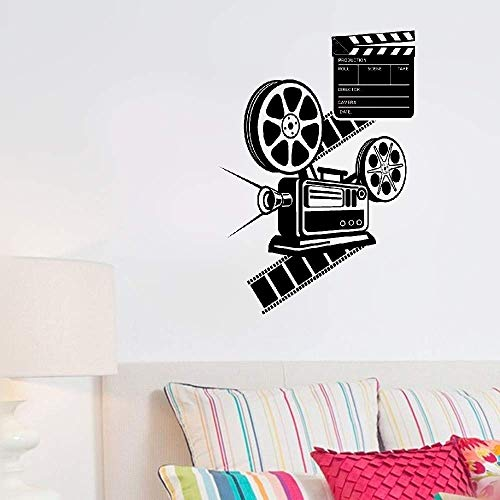 Tecvuy Wall Stickers Design Art Words Sayings Removable Lettering Camera Cinema Movie Hollywood -
