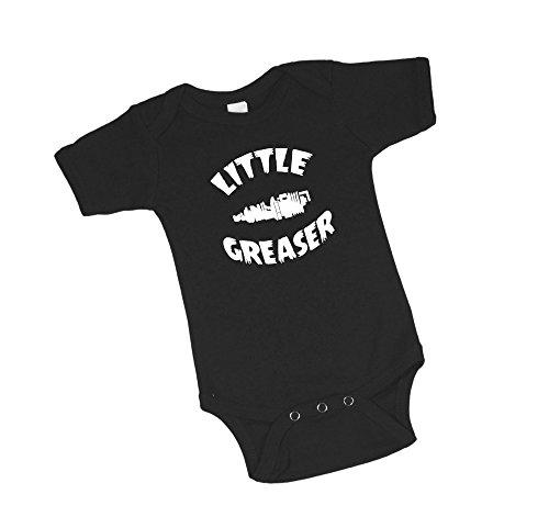 Project Pinup Little Greaser Spark Plug Black Baby Bodysuit (0-3 Months) -