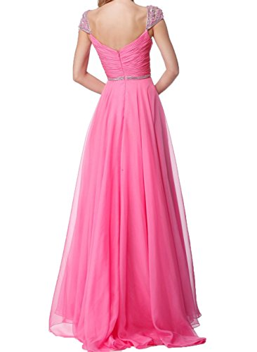 Chiffon Charmant Lang Traeger Pink Ballkleider Breit Promkleider Abendkleider Partykleider Neu Damen Promkleider 2018 APw0A