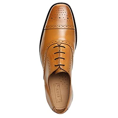 DLT Men's Genuine Imported Leather with Leather Sole Goodyear Welted Oxford Dress Shoes | Oxfords