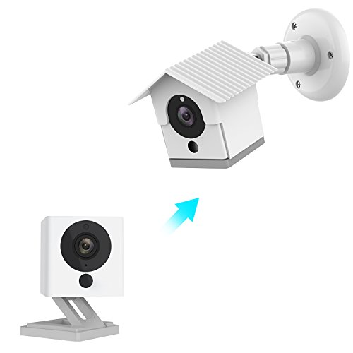 Wyze Camera Wall Mount Bracket Weather Proof 360 Degree Protective Adjustable Indoor and Outdoor Mount Cover Case for WyzeCam 1080p Smart Camera and Spot Camera Anti-Sun Glare UV Protection