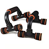Perfect Muscle Push up Pushup Bars Stands Handles Aid Equipment for Men and Women Pushups Workout Pairs of Slip-Resistant Polypropylene Exercise Chest Muscle Trainer Black (2 Packs)