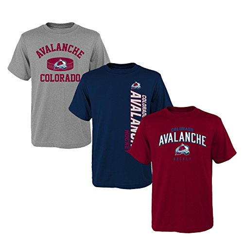 (NHL Youth Boys 8-20 Avalanche 3Piece Tee Set, L(14-16), Assorted)