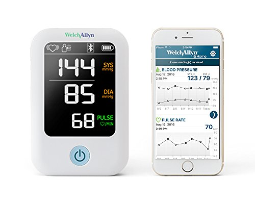 Welch Allyn Home 1700 Blood Pressure Monitor with SureBP Patented Technology and Simple Smartphone Connectivity - H-BP100SBP
