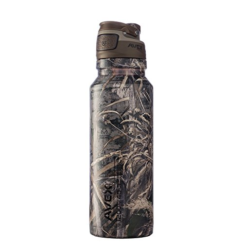 AVEX FreeFlow AUTOSEAL Stainless Steel Water Bottle 40oz Max-5 Realtree Camo