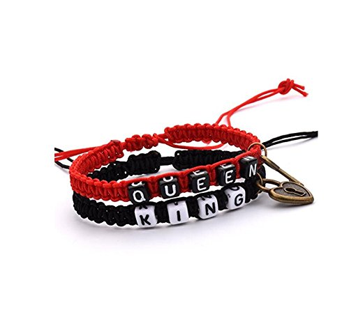 fashion quake Couple Leather Bracelets His and Hers Lover Bracelet Boyfriend and Girlfriend Jewelry