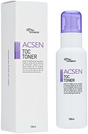 TROIAREUKE ACSEN TOC Toner 3.38 Fluid Ounce - Acne Prone Sensitive Skin Care with Centella Asiatica, Hyaluronic Acid