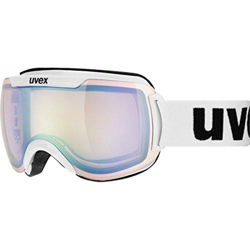 Uvex Downhill 2000 Variomatic Goggle White/Litemirror Silver Variomatic-Clear, One Size