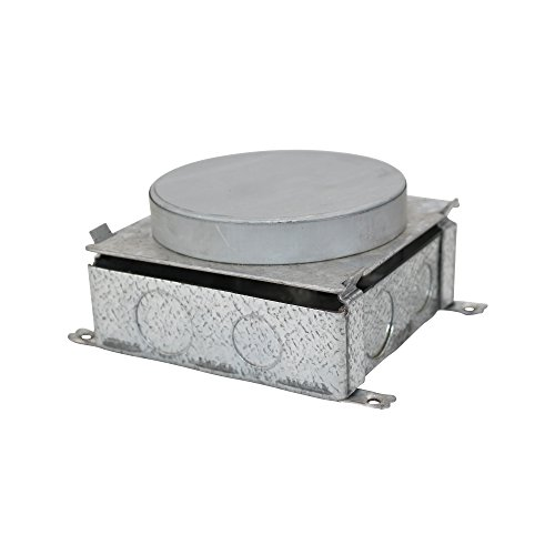 Wiremold Legrand 885B Stamped Steel Floor Box Concrete Tight, Brushed Aluminum (Wiremold Floor Box)