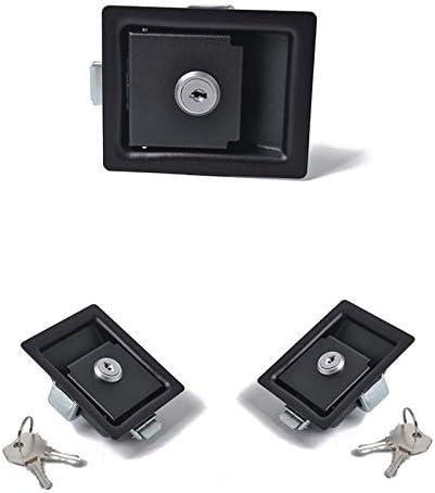 BianchiPamela 2x Large Paddle Handle Lock Latch Black Powdercoated Caravan Ute Truck Toolbox