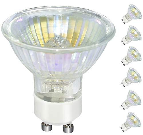 GU10 Halogen Bulb, 6 Pack 120V 50W Flood Light Bulb (5000K (Daylight White))