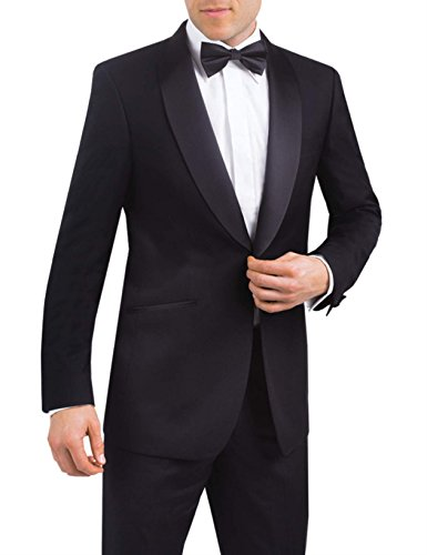 Luxury Black Tuxedo Jacket, Satin Shawl Lapel, Mens Dinner Jacket by Alexander Dobell