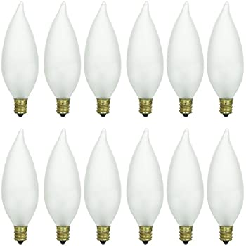 10 qty bulbrite 60ctf322 60 watt incandescent torpedo b10 sunlite 60cff3212pk candelabra e12 base flame tip 60w incandescent chandelier aloadofball Gallery