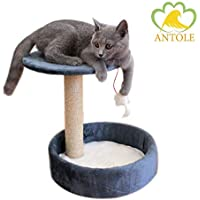 ANTOLE Cat Tree with Platform And Cat Bed Save Space Condo House Furniture For Cat
