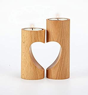unique tea light holders vintage style chasbete tea light candles holders for tealights real wood finish small heartshaped pedestal design amazoncom tinkertory succulent cactus jasmine scented