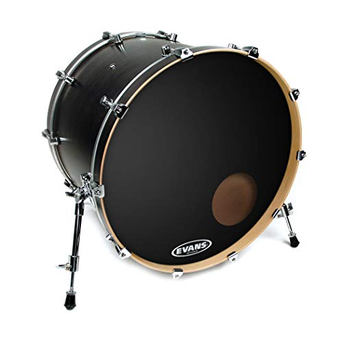 Evans EQ3 Resonant Black Bass Drum Head, 22 Inch