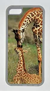 Giraffe Kiss Giraffe Baby's Head DIY Rubber Transparent iphone 5C Case Perfect By diycenter