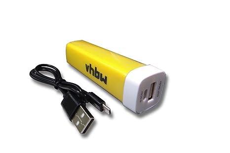 vhbw Powerbank 2200mAh, Cargador portátil en Amarilla con ...