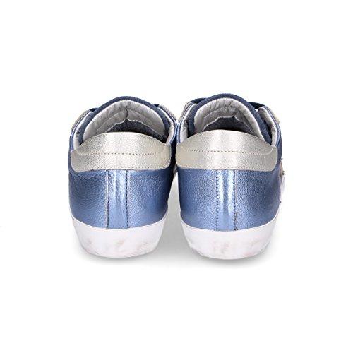 Philippe Damas Modelo Clldms10 Zapatillas De Deporte De Cuero Azul Descuento de Outlet Auténtico 4Ok6J0M