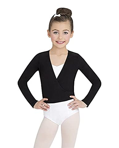 Capezio Youth Classics Wrap Top, Black-LG 12/14 - Capezio Wrap Skirt