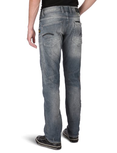 Straight Star Jeans 1146 Destroy Attacc G Vintage Blue Homme Low Ot6Cqxn