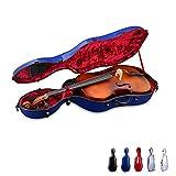 Crossrock CRF1000CEFN Fiberglass Cello 4/4 Full Size Hardshell Case, Wheels, Navy Blue