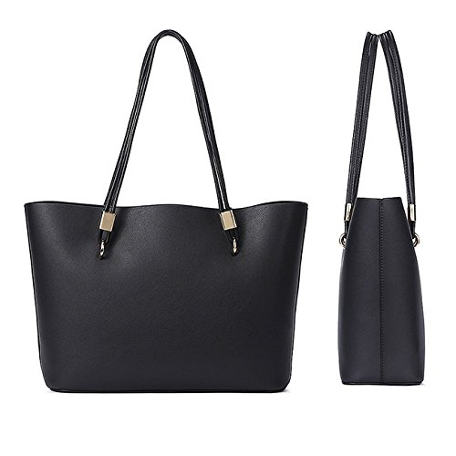 Diagonale Parti PU Black Shopping WKNBEU Sac épaule Féminine à Mode Voyage Sacs Grands Universitéétudiant Main tzt7qZ