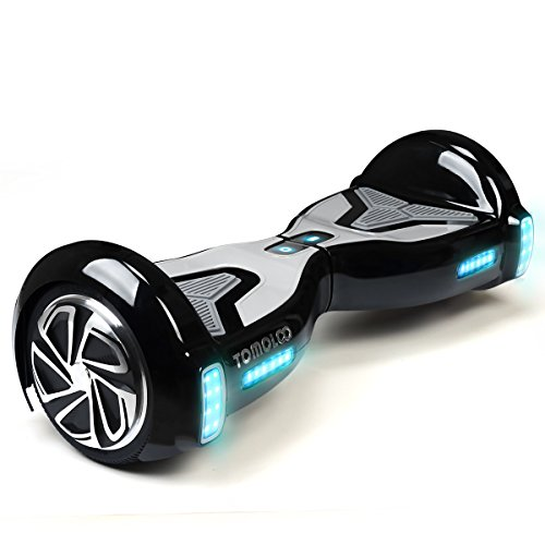 TOMOLOO Hoveroard with Bluetooth Speaker and Lights - Black Hover Board with App UL2272 Certified…