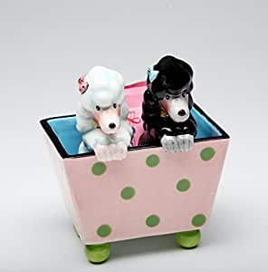 Cosmos Gifts 61996 Ruby Poodle In a Box Salt and Pepper Shaker