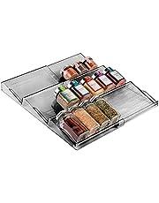 mDesign - Kruidenrek - lade-organizer - voor keuken, badkamer en kantoor - voor kruiden en specerijen - uitschuifbaar/3 etages