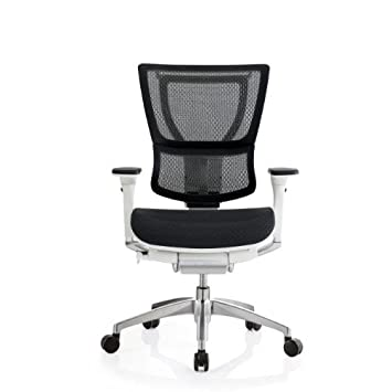 white frame office chair. ioo eurotech office ergonomic chair black mesh and white frame no head rest