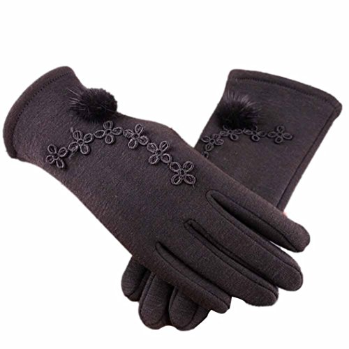 Price comparison product image Hot Sale! Clearance!Todaies Women Cashmere Keep Warm Driving Full Finger Gloves Winter Wrist Gloves Mittens (Free size,  Black)