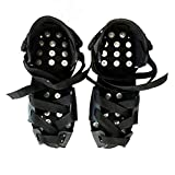 Anti-Skid Shoe Covers Traction Cleats Ice Snow Grips, Boot Cleats Ice Cleats Anti Slip Spikes Crampons for Men and Women with 32 Spikes for Jogging Climbing & Hiking