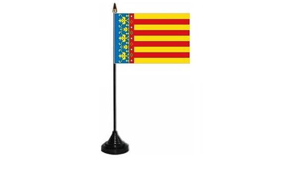 Valencia escritorio/mesa de la bandera de plástico y base.: Amazon ...