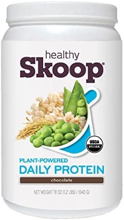 Healthy Skoop Organic, Plant-Powered Daily Protein, Chocolate 19 Ounce