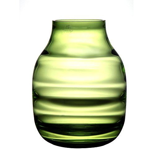 Green Glass Vase - Ballerina Hand Bowln Glass Vases Flower Halo Bottle Vintage Home Decoration ( Green, Handicraft, 9.06