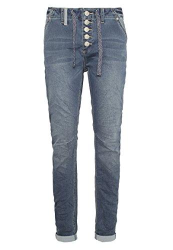 pour Jeans Jogg Bleu Jean Eight2Nine cordelette Dames Sportif Moyen Boyfriend Style qE6Bp