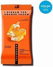 TRUWOMEN Plant Fueled Protein Bar, I Scream for Orange Cream (12 count)