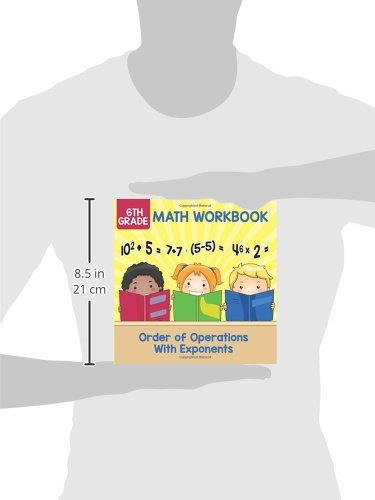 6th Grade Math Workbook: Order of Operations With Exponents: Baby ...