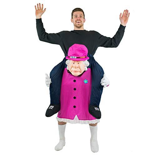 Bodysocks Adult Piggyback Queen Elizabeth Carry On Fancy Dress Costume