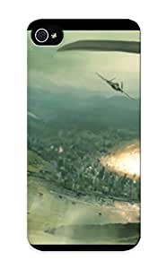New Style Rightcorner Hard Case Cover For Iphone 5/5s- Aircraft Futuristic Bomber Cgi Concept Art Atomic Bomb