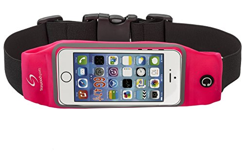 Running Belt Waist Pack for iPhone 6S/6/6 PLUS with Touchscreen Window (Pink, 4.7 Inches) (Arms Belt Buckle)