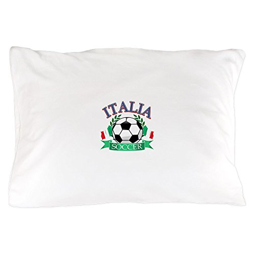CafePress - Italy Soccer Designs - Standard Size Pillow Case, 20''x30'' Pillow Cover, Unique Pillow Slip by CafePress