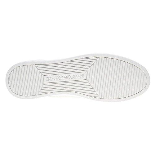 Emporio Armani Tacco Logo Corte Scarpe Da Ginnastica Da Donna Metallico Metallizzato