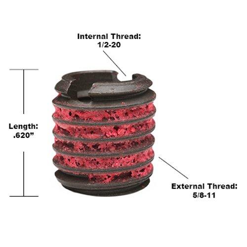Steel 1//2-20 Installation Kit E-Z LOK EZ-329-820 Threaded Inserts for Metal Black Oxide
