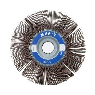 10 -PK Norton Merit High Performance Cr/Ao Flap Wheel 6 Inch X 1/2 Inch X 1 Inch 180 Grit // 08834123006