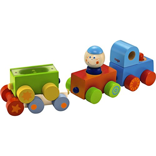 HABA Habatown All Aboard Wood Magnetic Stacking Train Toy