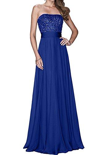 Jugendweihe Abendkleider Damen Braut mia Kleider La Jaket Royal Partykleider Brautmutterkleider mit Chiffon Blau BO01E5Eq
