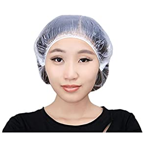 Awayyang 200 PCS Disposable Shower Caps Large Elastic Bath Cap For Women Spa ,Hotel and Hair Salon